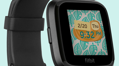 Animal Crossing Fitbit face
